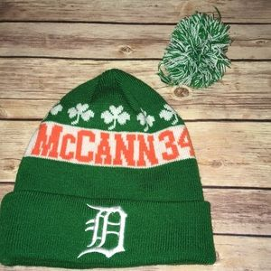 Detroit Tiger's McCann #34 beanie winter hat